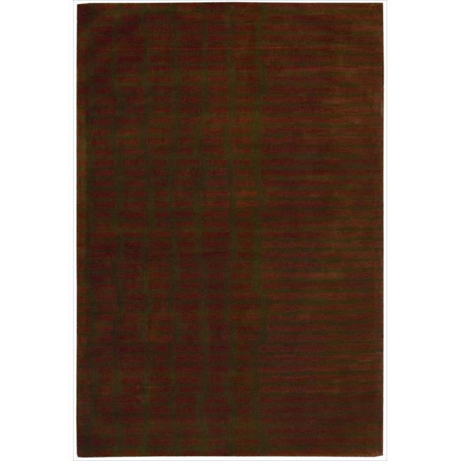 Nourison Home Hand-tufted Luster Wash Brick Rug (5'6 x 8')