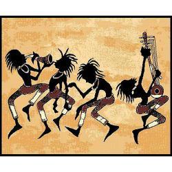 African Adventures Tribal Dance Area Rug (5' x 7')