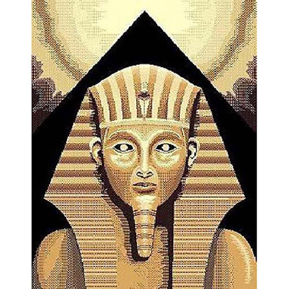 African Adventure Egyptian King Tut Beige Area Rug (5' x 7')