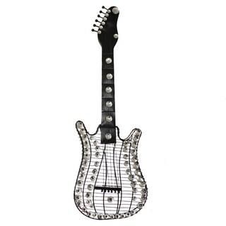 Hand-finished Viva La Music 3-D Metal Guitar Wall Art Decor