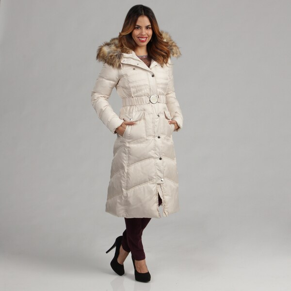 Laundry Women's Quilted Front Belted Down Coat