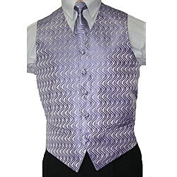 Ferrecci Men's Lilac Vest Tie 4-piece Accessory Set