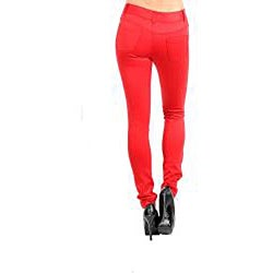 Stanzino Women's Red Ultra Skinny Pants