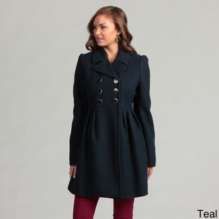 Betsey Johnson Pleated Wool Coat