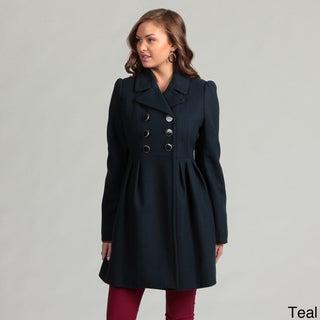 Betsey Johnson Pleated Wool Coat