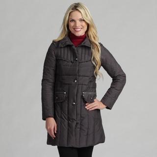 Betsey Johnson Women's Ruffle Accent Down Coat