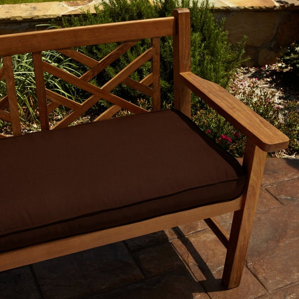 Clara Brown 60-inch Indoor/ Outdoor Sunbrella Bench Cushion