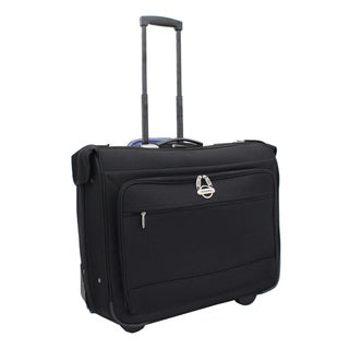 On-the-go Collection 42-inch Black Polyester Rolling Garment Bag