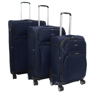 Jourdan Lightweight Navy 3-piece Expandable Spinner Luggage Set