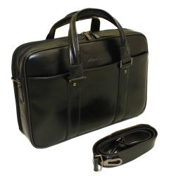 Kenneth Cole New York Dual Gusset Designer Leather 14-inch Laptop Computer Briefcase