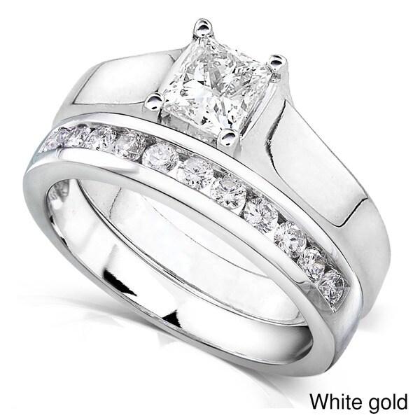 Annello 14k Gold 7/8ct TDW Diamond Bridal Ring Set (G-H, I1-I2)