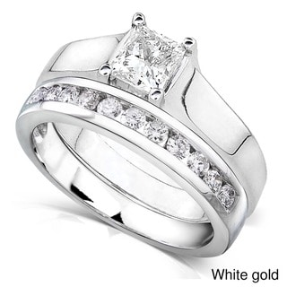 Annello 14k Gold 7/8ct TDW Diamond Bridal Ring Set (G-H, I1-I2)