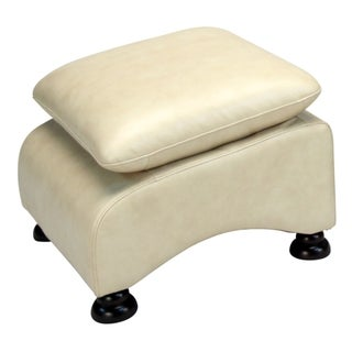 Lorenzo Softy Tan Leather Ottoman