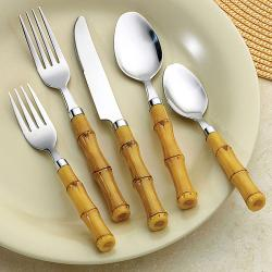 Bellamo Bamboo Style 26-piece Flatware Set