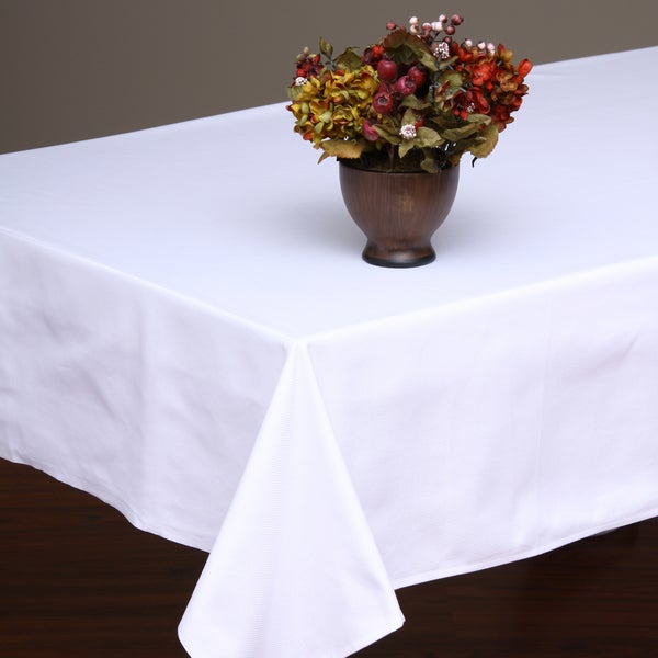 White/Granite Jacquard Diamond Table Cloth