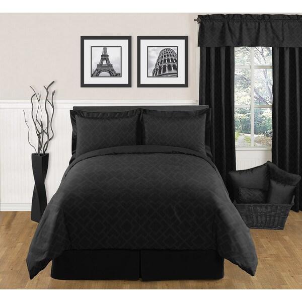 Sweet JoJo Designs Black Diamond 3-piece King-size Bedding Set