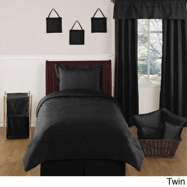 Sweet JoJo Designs Black Diamond Bedding Set