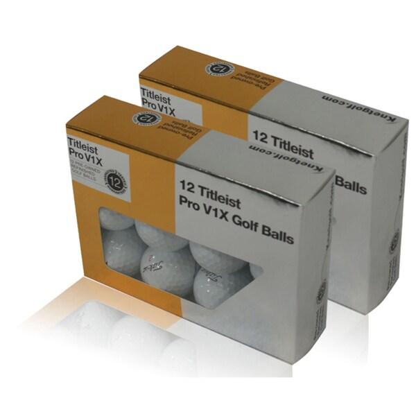 Titleist Refinished Mint Pro V1x Golf Balls (Case of 24)