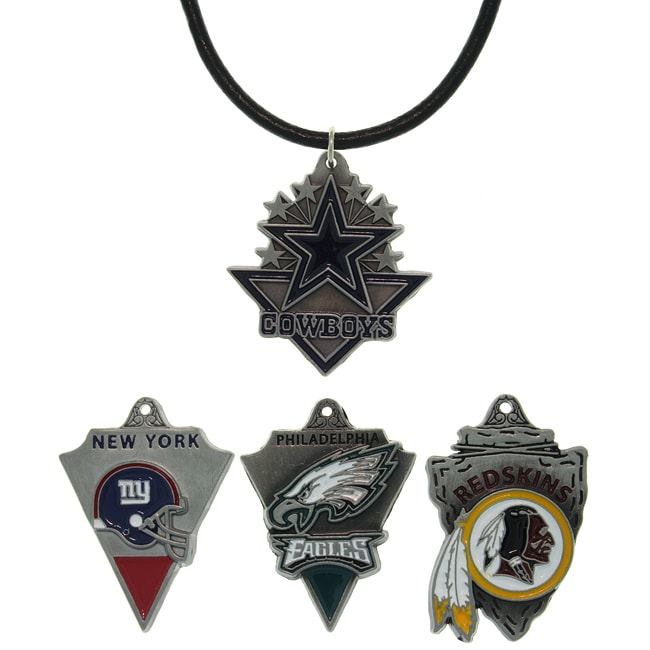 Carolina Glamour Collection Enamel-on-pewter NFC East Team Licensed NFL Pennant Necklace