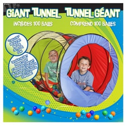 Hedstrom 48-inch Giant Nylon/Polyethelene Play Tunnel with 100 Balls