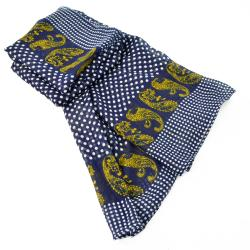 LA77 Women's Polka Dots and Paisley Scarf