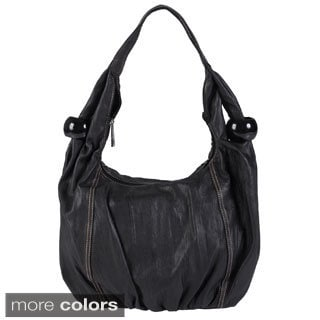 Journee Collection Women's Faux Leather Slouchy Satchel