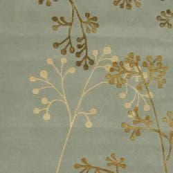 Safavieh Handmade Soho Vine Light Blue New Zealand Wool Rug (7'6 x 9'6)