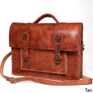 Handmade Leather Laptop Bag / Briefcase (Morocco)