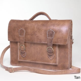 Handmade Leather Briefcase (Morocco)