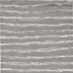 Handmade Soho Stripes Grey New Zealand Wool Rug (8' Square)