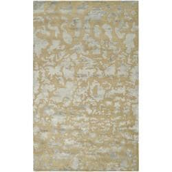Safavieh Handmade Soho Taupe/ Light Blue Grey New Zealand Wool Rug (3'6 x 5'6')