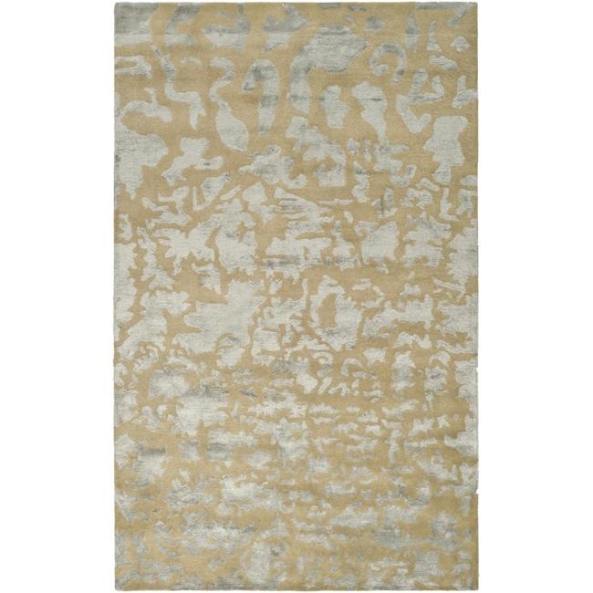 Safavieh Handmade Soho Taupe/ Light Grey New Zealand Wool Rug (8'3 x 11')