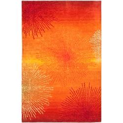 Handmade Soho Burst Rust New Zealand Wool Rug (8'3 x 11')
