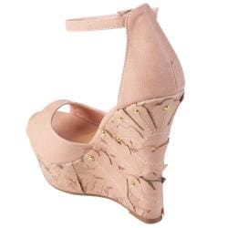 Journee Collection Women's 'Cycle-36' Peep Toe Ankle Strap Wedges
