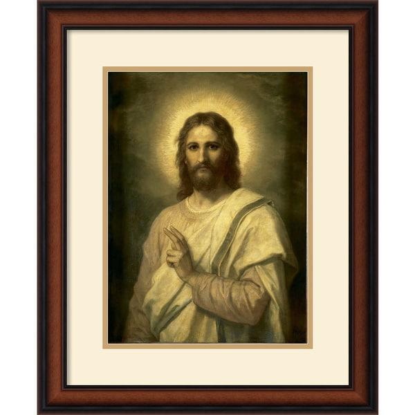 Heinrich Hofmann 'Figure of Christ' Framed Art Print
