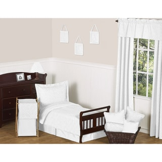 Sweet JoJo Designs White Diamond 5-piece Toddler Bedding Set