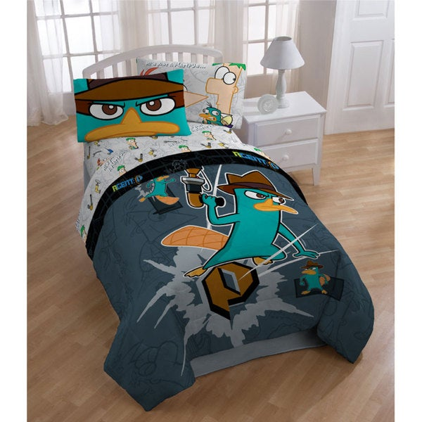 Disney Phineas & Ferb 'Agent P' Twin-size Bed in a Bag with Sheet Set