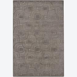 Hand-tufted Mandara Geometric Grey Wool Rug (7'9 x 10'6)