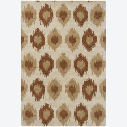 Hand-tufted Mandara Abstract Ivory Wool Rug (7'9 x 10'6)