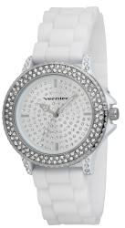 Vernier Women's V11071WT White Silicone Sparkle Watch