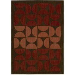 Nourison Home Metropolitan Red Wool Rug (7'9 x 10'10)