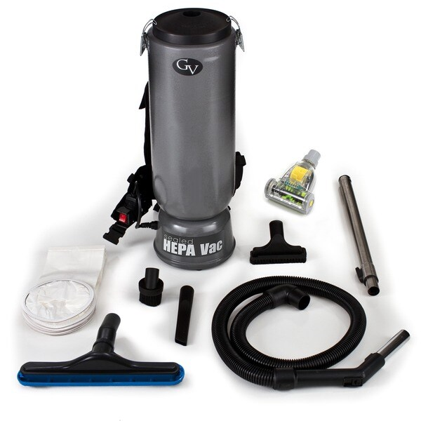 GV 10-quart Commercial Backpack Vacuum with Tools