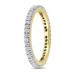Miadora 10k Gold 1/3ct TDW Diamond Eternity Ring (H-I, I2-I3)