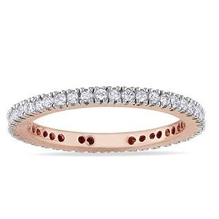 Miadora 10k Gold 1/3ct TDW Diamond Eternity Ring (H-I, I2-I3)