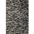 Tilton Hand-tufted Black/ Blue Shag Rug (5' x 7'6)