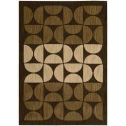 "Nourison Home Metropolitan Brown Area Rug (5'3"" x 7'5"")"
