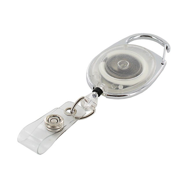 GBC BadgeMates Clear Translucent Carabiner Badge Reels (Pack of 6)