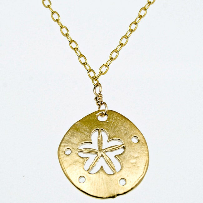 Sand Dollar Pendant 16-inch Necklace