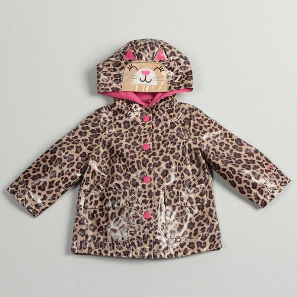 Carter's Toddler Girl's Leopard Hooded Rain Coat
