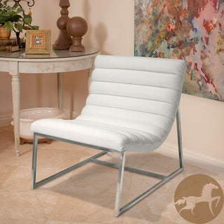 Christopher Knight Home Parisian White Leather Sofa Chair